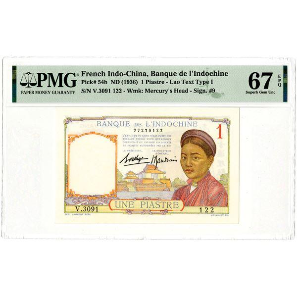 Banque de l'Indochine, ND (1936) Issued Banknote