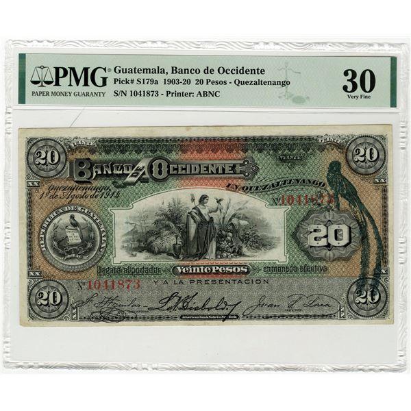 Banco de Occidente, 1903-20 Issued Banknote