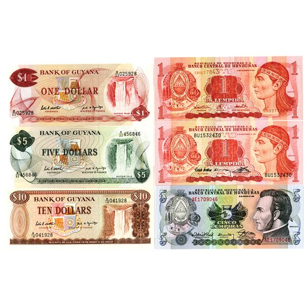 Central America Banknote Group of 10 Notes