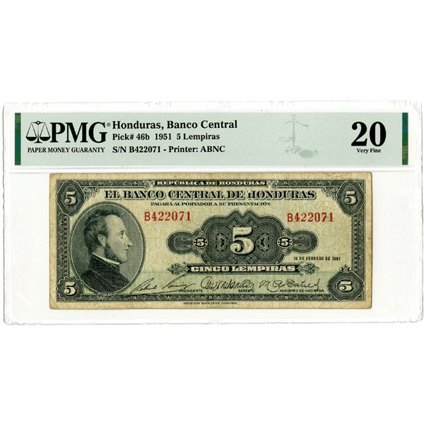 Banco Central de Honduras, 1951 Issued Banknote