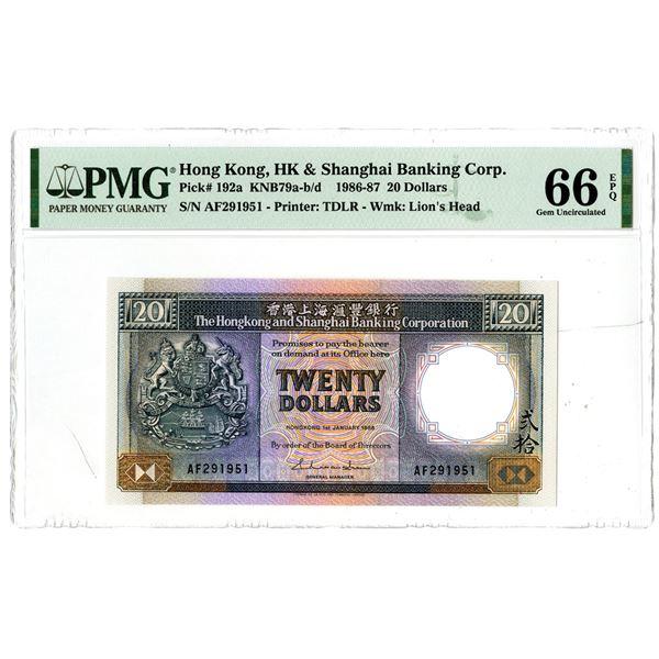 Hongkong & Shanghai Banking Corp.. 1986, High Grade Issued Note