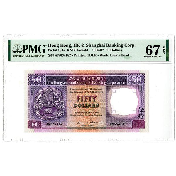 Hongkong & Shanghai Banking Corp.. 1987, High Grade Issued Notes.