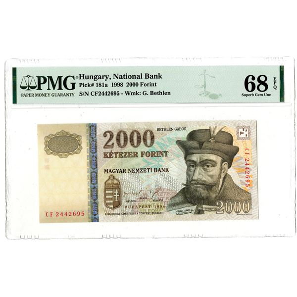 "Magyar Nemzeti Bank, 1998 ""Top Pop"" Issued Banknote"