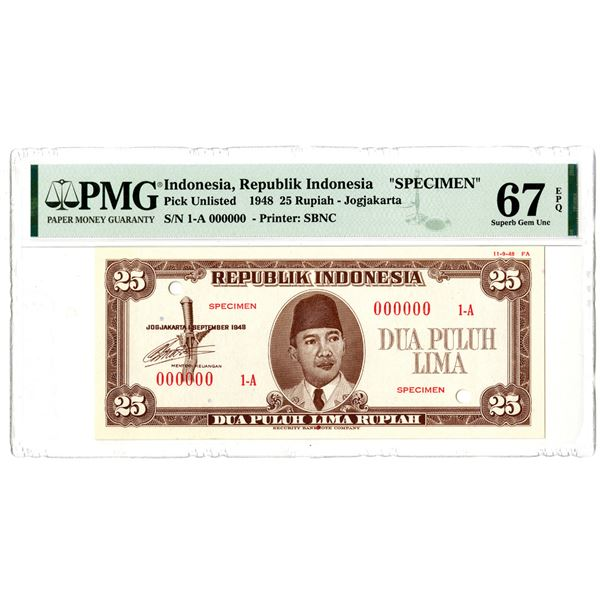 Republik Indonesia, 1948 Specimen Banknote