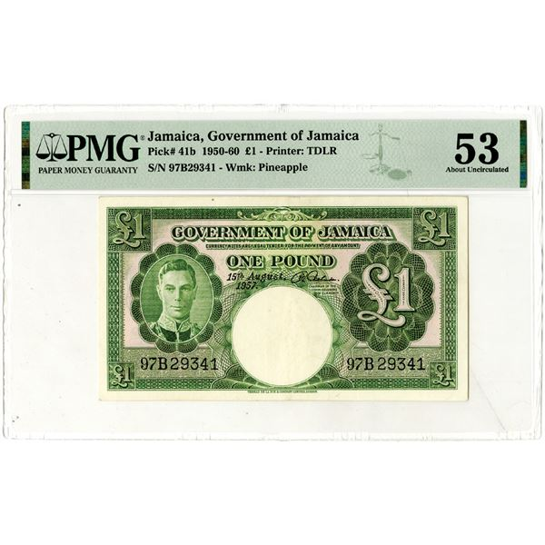 Government of Jamaica, 1950-60 Issued Banknote