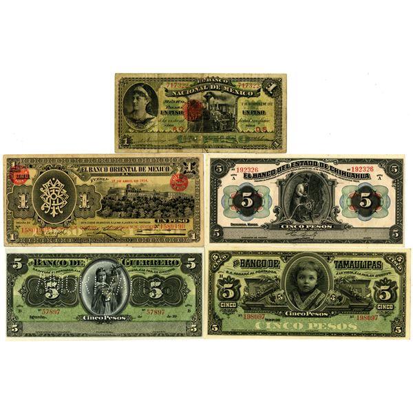 Mexico, ca.1910-20, Banknote Assortment,