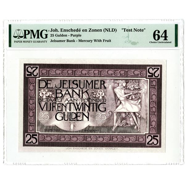 De Jelsumer Bank, ND (ca.1910-30) Essay Banknote Design Used as an Advertising Sample note.