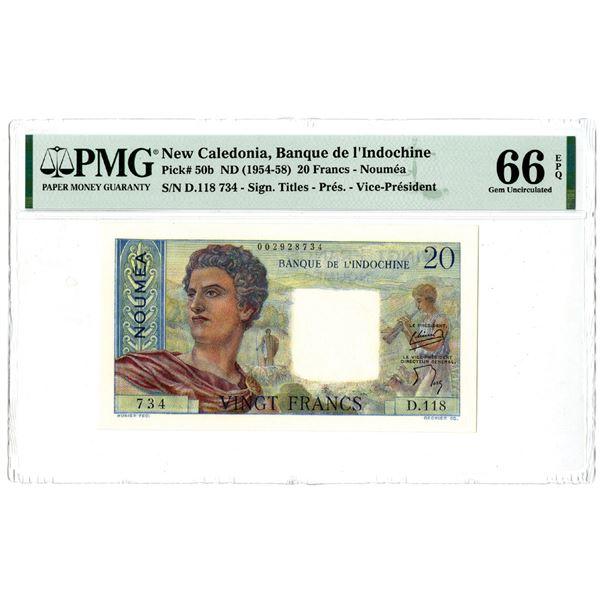 Banque de l'Indochine, ND (1954-58) Issued Banknote
