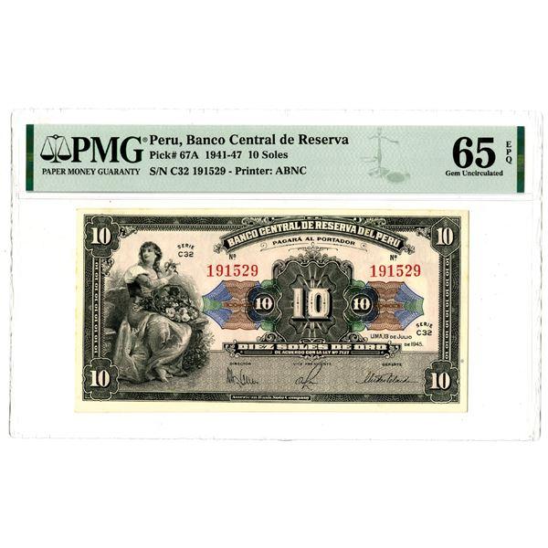 Banco Central de Reserva del Peru, 1941-47 Issued Banknote