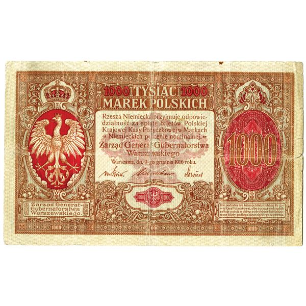 Polish State Loan Bank, Second Issue, 1917 Issued Banknote