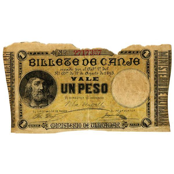 Ministerio de Ultramar, 1895 Issued Billete de Canje