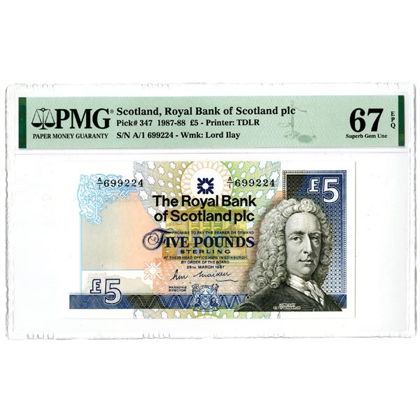 """Royal Bank of Scotland PLC. 1987. """"Top Pop"""" Issued Note."""