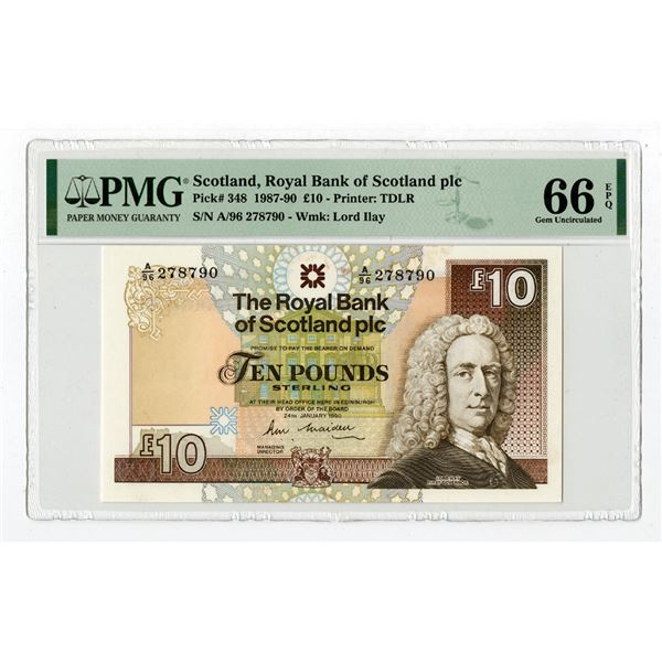 Royal Bank of Scotland plc, 1987-90 Issued Banknote