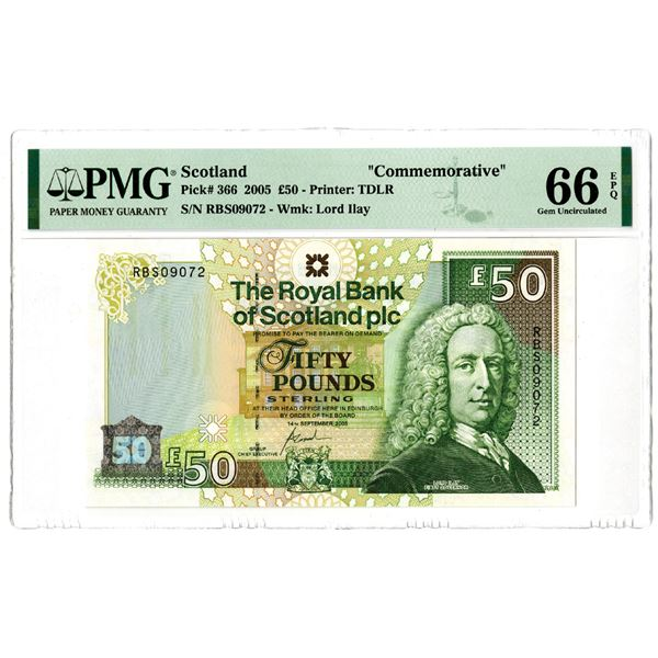 Royal Bank of Scotland. 2005. Issued Commemorative Banknote.