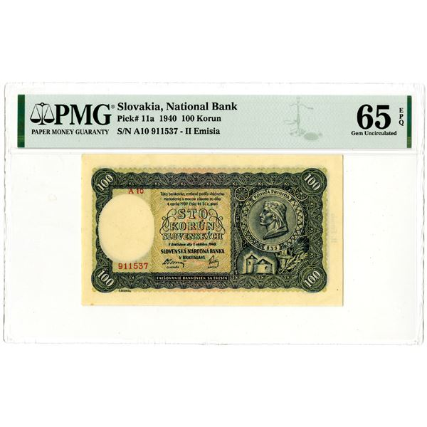 National Bank of Slovakia, 1940 Issued Banknote