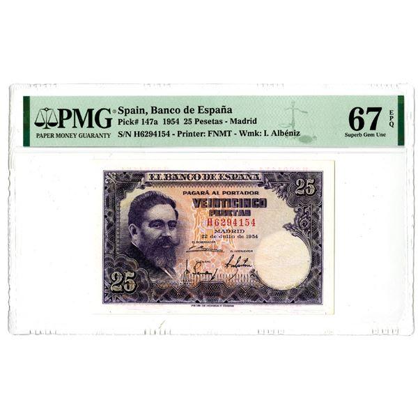Banco de Espa–a. 1954 Issue Banknote.