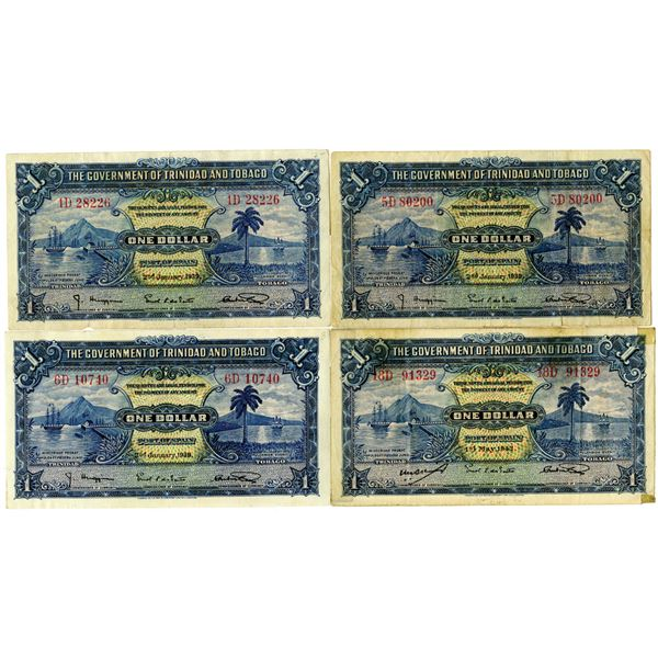 Government of Trinidad and Tobago, 1939-1942 Issued Banknote Quartet