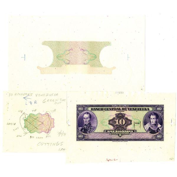 Banco Central De Venezuela, ND (1971-79) Production Progress Proof Trio