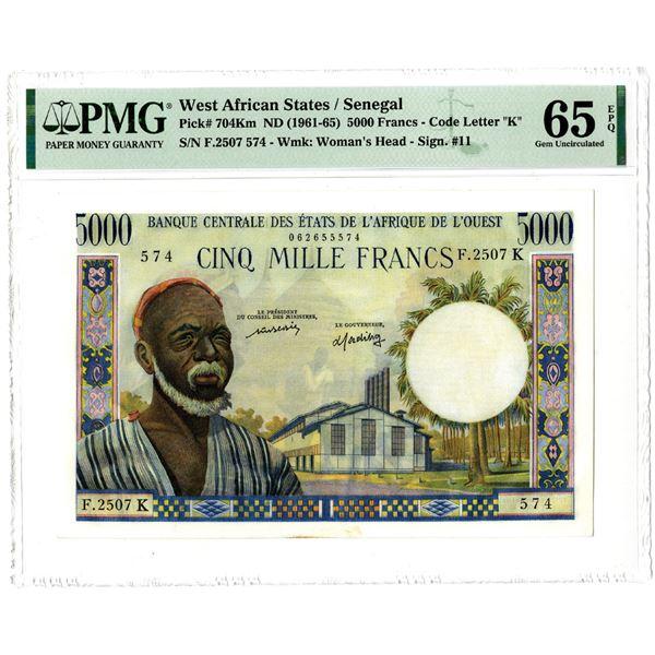 Banque Centrale des Etats de L'Afrique de L'Ouest, ND (1961-65) High Grade Issued Banknote