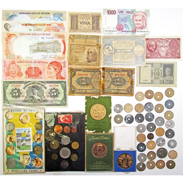 Large Lot of Coins, Banknotes, and other Ephemera