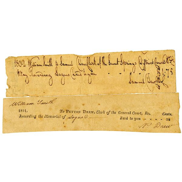 Pair of Documents from William S. Smith, 1802-1811.