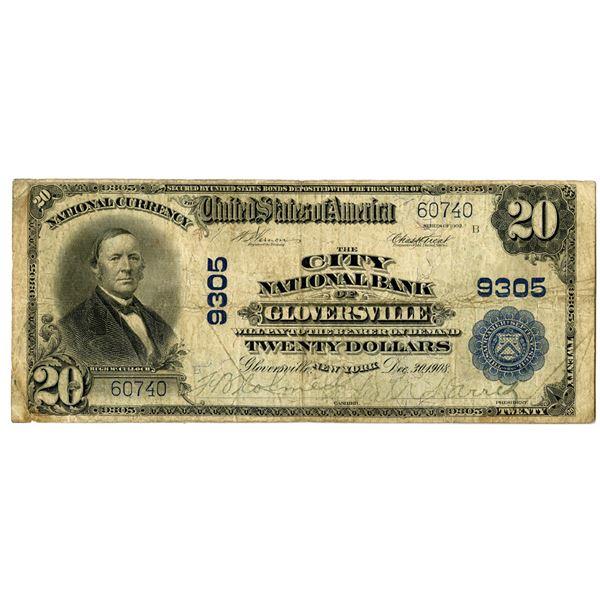 New York. City National Bank of Gloversville, Series of 1902 PB, Ch# 9305.