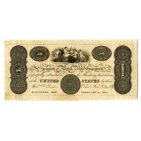 Reed, Stiles, Pelton & Co., Banknote Engravers Advertising Note