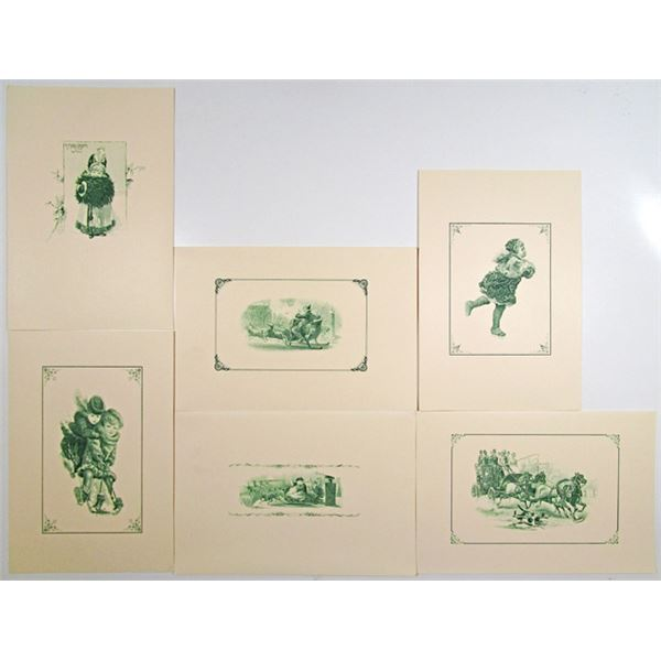 Christmas and Holiday Notecards from Original 1840-60's ABNC Steel Engravings