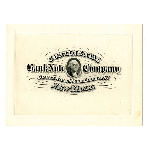 Continental Bank Note Co. Proof Advertisement Signed by Glenn Jackson on Back