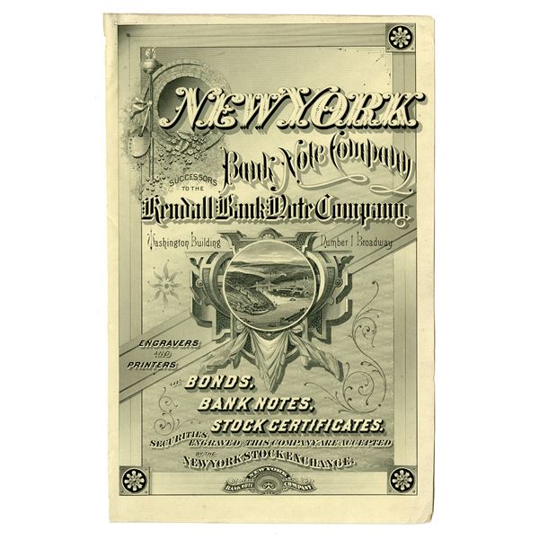 New York Bank Note Co. Proof Advertising Sheet