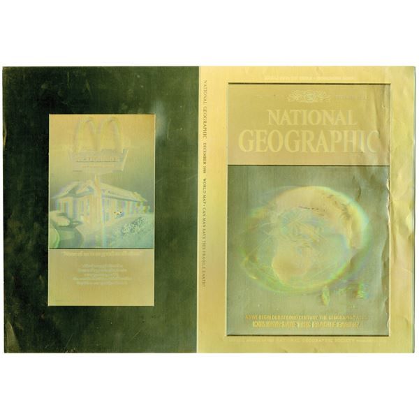 National Geographic 1988 Proof Holographic Unfolded Covers by ABNC