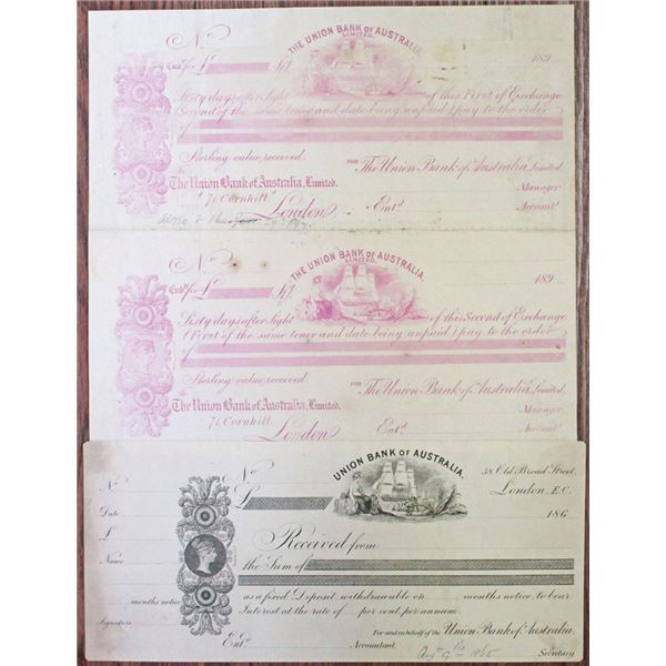 Union Bank of Australia Proof CD and Exchange Pair, ca.1865-1897