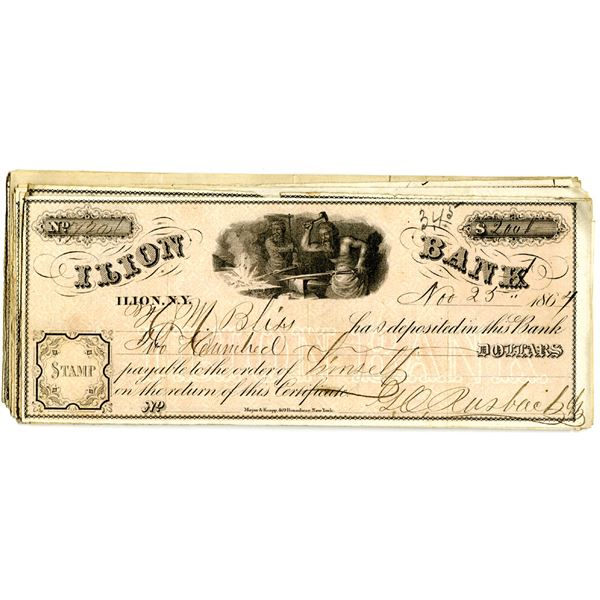 Ilion Bank, 1860s Issued Check Assortment