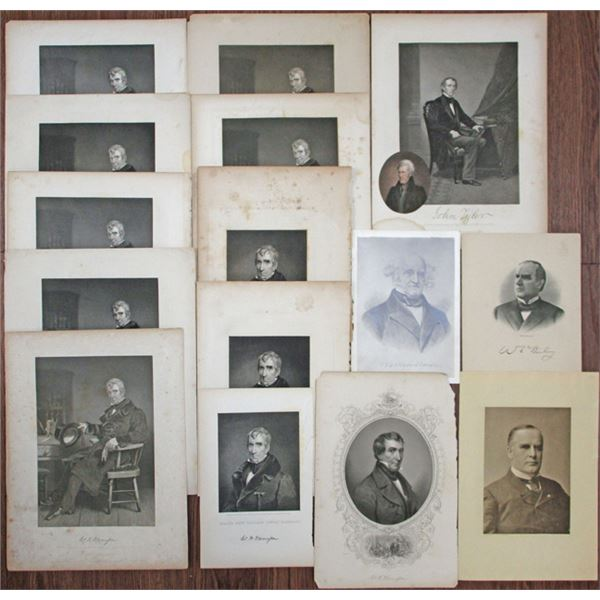 United States Vintage Presidential Portraits Group Lot, ca.1850-1920's.