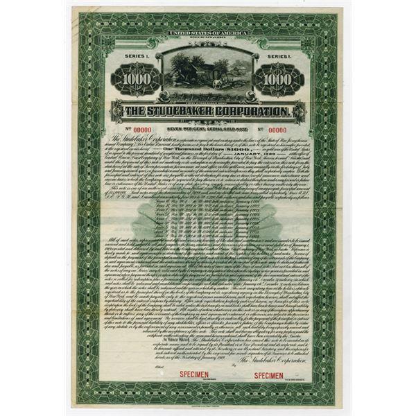Studebaker Corp. 1919 Specimen Bond