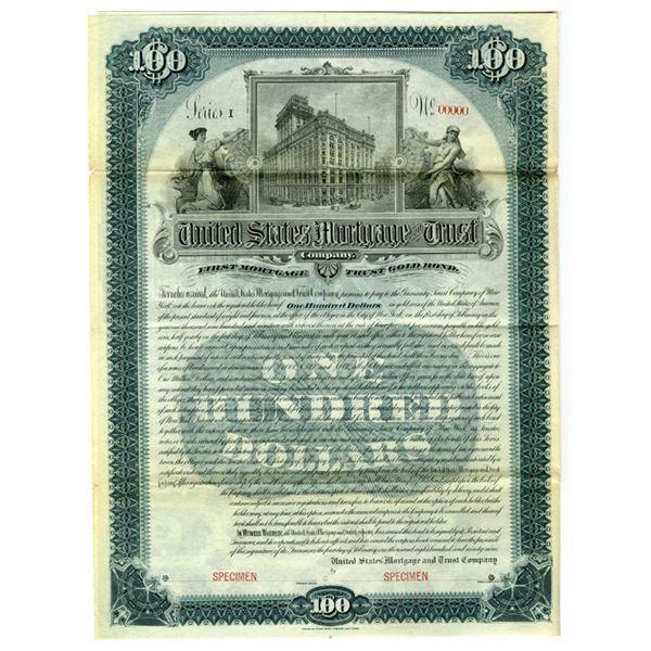 United States Mortgage & Trust Co., 1899 Specimen Bond