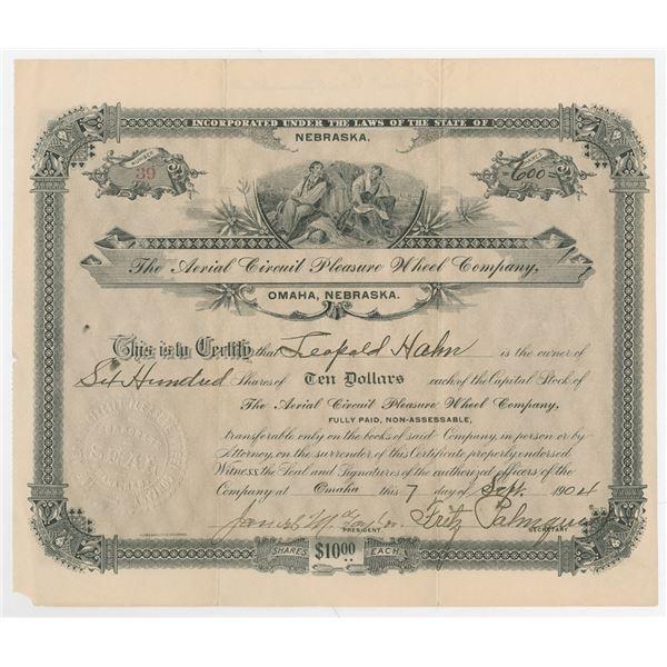 Aerial Circuit Pleasure Wheel Co., 1904 Issued Stock Certificate