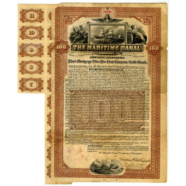 Maritime Canal Co. of Nicaragua 1897 I/U Bond
