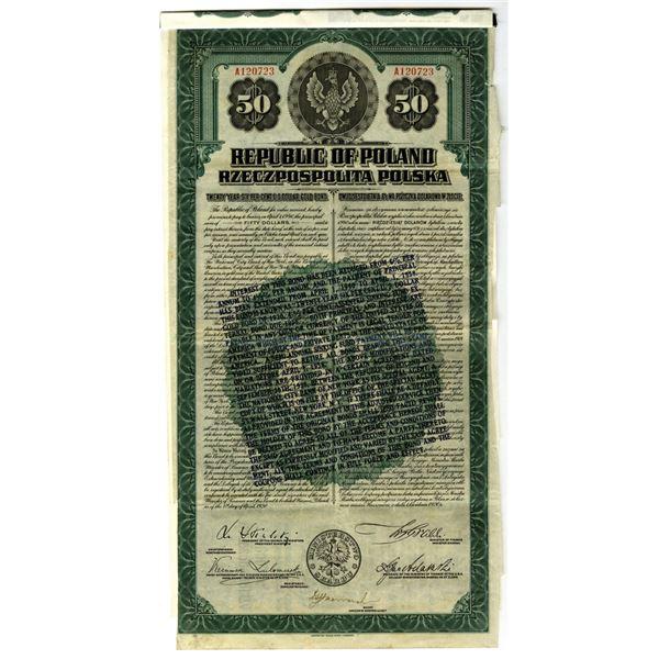 Republic of Poland 1920 I/U Coupon Bond