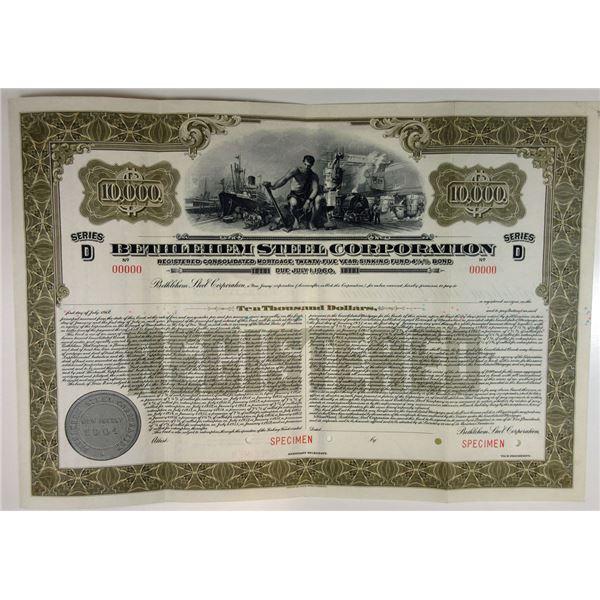 Bethlehem Steel Corp, 1935 Specimen Bond