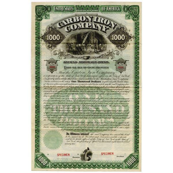 Carbon Iron Co., 1892 Specimen Bond