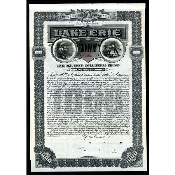 Lake Erie Co., 1905 Specimen Bond