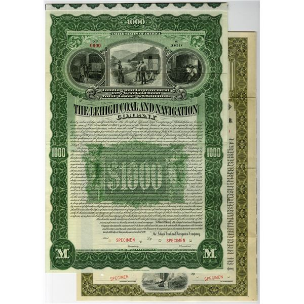 Lehigh Coal and Navigation Co., 1898 Specimen Bond.