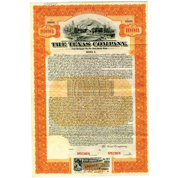 """Texas Company """"TEXACO"""" 1910 Specimen Bond"""