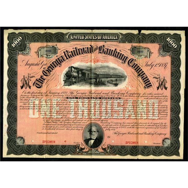 Georgia Railroad and Banking Co., 1897 Specimen Bond