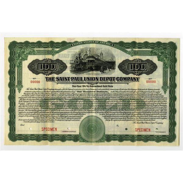 Saint Paul Union Depot Co., 1918 Specimen Bond