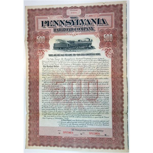 Pennsylvania Railroad Co., 1902 Specimen Bond