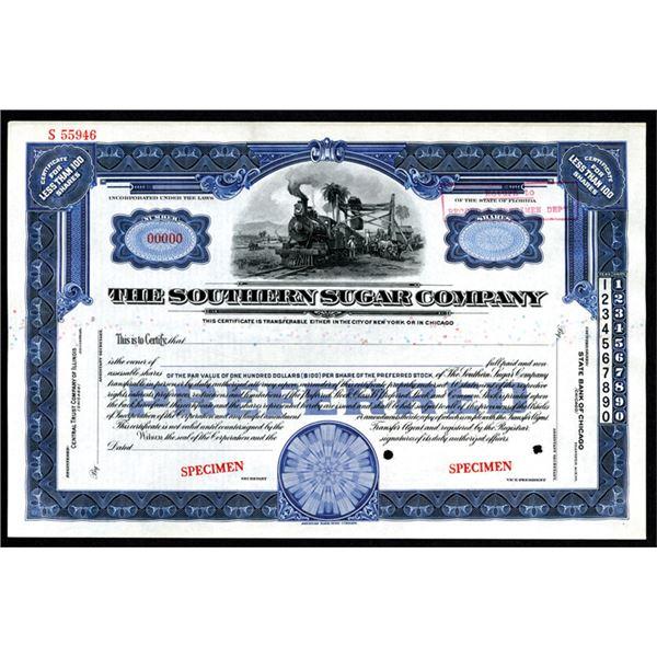 Southern Sugar Co., ND ca.1910-20's Specimen Stock Certificate