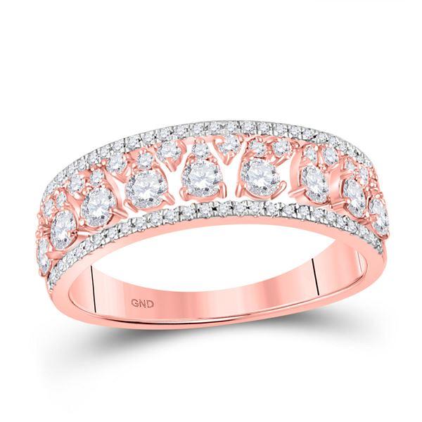 Diamond Band Ring 3/4 Cttw 14kt Rose Gold