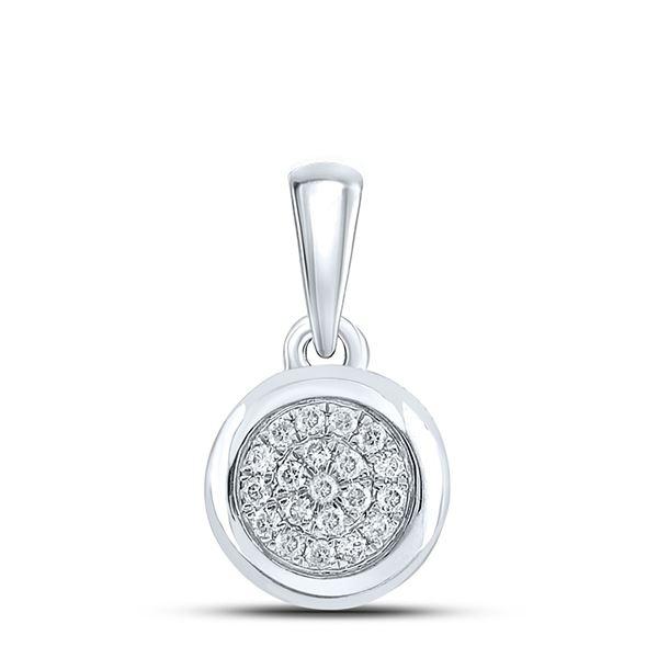 Diamond Cluster Pendant 1/6 Cttw 10kt White Gold